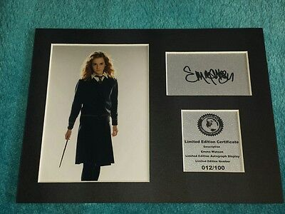 Emma Watson - Hermione Granger - Harry Potter - Signed Autograph Display Mount