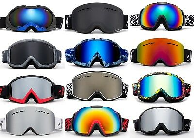 Men Ski Goggles Snow Anti Fog Dual Lens UV Protection 3 Layers Foam with POUCH!!