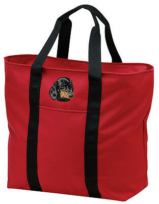 Dachshund Embroidered All Purpose Tote