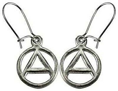 1 x PAIR OF ANARCHY EARRINGS WITH HOOKED WIRE 22 x 12 mm Wicca Witch Pagan Goth