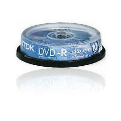 TDK DVD+R Recordable 10 Disc Spindle Pack 4.7GB 16x