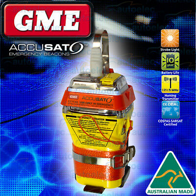 Gme Mt600 406Mhz Epirb Boat Marine New Replaces Mt400 + Brass Survival Whistle