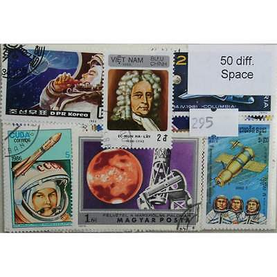 Space, 50 stamps, all different (295)