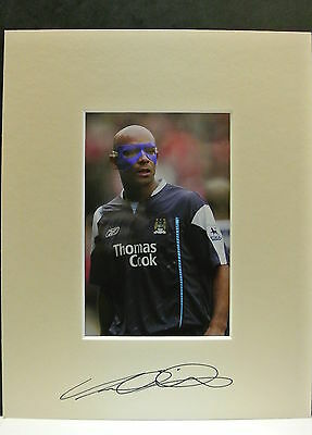 10 x 8 inch mount personally signed by Trevor Sinclair of Manchester City.