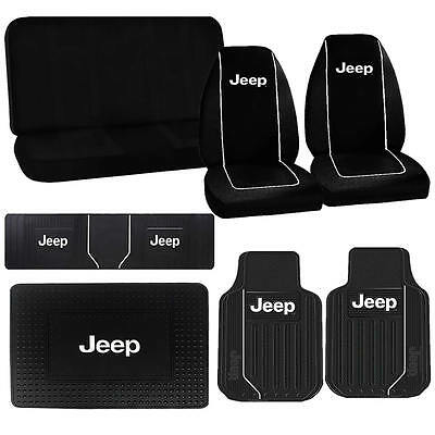 Jeep Elite Black Front Runner Cargo Heavy Duty Rubber Mats Seat Covers