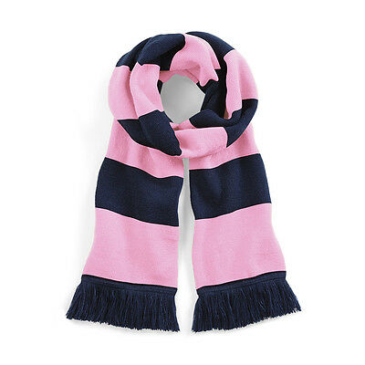 Pink & Navy Dulwich Hamlet FC Traditional Retro Football Varsity Bar Scarf
