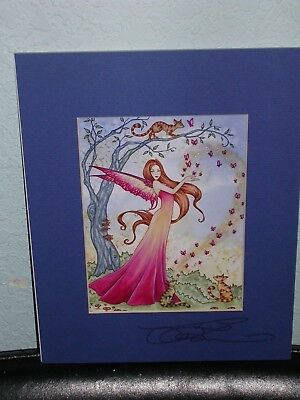 Amy Brown - Butterfly Magick - Matted Mini Print - SIGNED