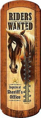 Tin Thermometer,HORSE WESTERN Art,Advertising,48