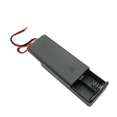 1 2 AAA Battery Holder Box Case 3V ON/OFF Switch