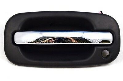 for Chevy GMC Outside Outer Exterior Door Handle Front Left Driver Black Chrome