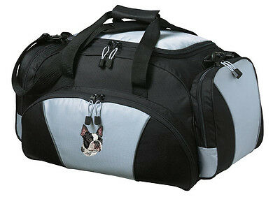 Boston Terrier Embroidered Duffel Bag