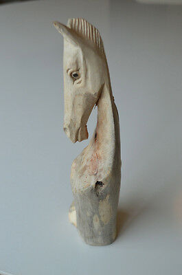 BEAUTIFUL HANDCARVED DRIFTWOOD ROOT HORSE SCULPTURE WOOD CARVING 20