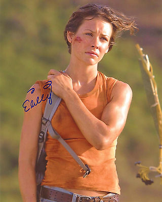 "10""x8"" PHOTO PRINTED AUTOGRAPH - EVANGELINE LILLY - LOST"