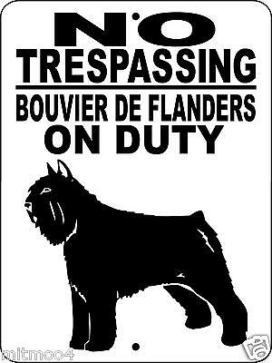 "BOUVIER  DOG SIGN, 9""x12"" ALUMINUM,GUARD DOG,WARNING SIGN,SECURITY, H1994BDF2"