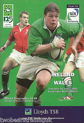 IRELAND v WALES (Rugby Union Six Nations 1.4.2000) Programme