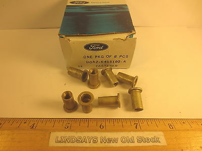 """8 Pcs In 1 Ford Pkg. 1969/78 Full Size Wagon """"rivet Nut"""" Luggage Carrier Support"""
