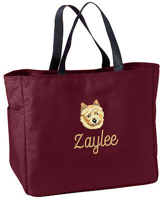 Norwich Terrier embroidered essential tote bag 18 COLORS