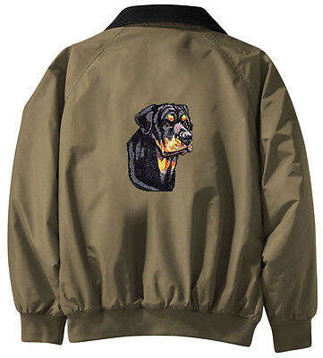 Rottweiler Embroidered Jacket - Jacket Back - Sizes XS thru XL