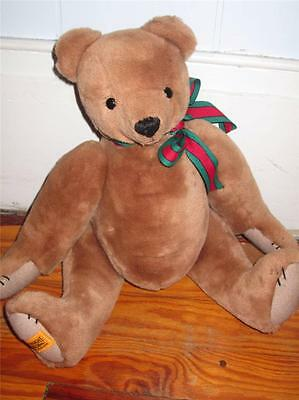 "Vintage Merrythought Ironbridge Shrops Bear Jointed Poseable 15"" England"
