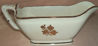 ANTIQUE  ROYAL IRONSTONE CHINA   ALFRED MEAKIN   GRAVY BOAT   MADE IN ENGLAND