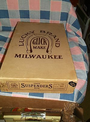 Box Only Lucky Brand Click Make Milwaukee Suspenders Union Made NRA Some Wear