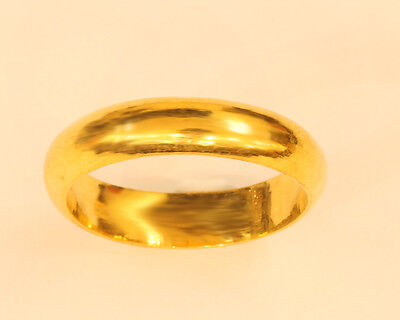 22K Solid Gold Band Ring From Thailand Size 10