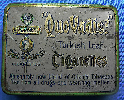 Ardath 'Quo Vadis' Turkish Leaf Cigarettes Tin – empty