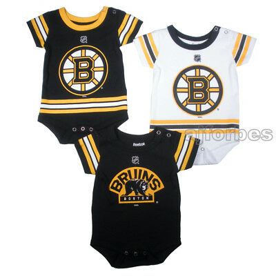 0a874eaa6 Boston Bruins Infant Baby Team Jersey 3-Piece Creeper Romper Set FREE  SHIPPING