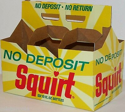 Vintage soda pop bottle carton SQUIRT 1968 NDNR unused new old stock n-mint cond