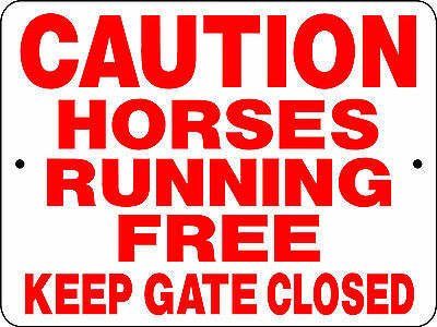 "HORSE SIGN, 9""x12"" ALUMINUM,RANCH,PASTURE,HORSES,BARN,COWGIRL,RODEO,2981"