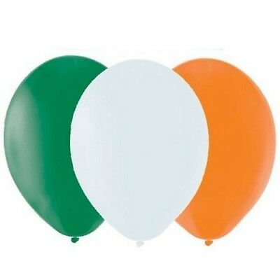 15 x ST PATRICKS DAY IRISH FLAG COLOUR IRELAND PARTY BALLOONS DECORATIONS QR33