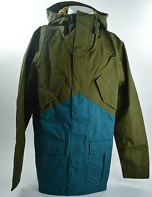 2015 NWT MENS NIKE SB MID WEIGHT FISHTAIL SNOWBOARD JACKET $200 forest green
