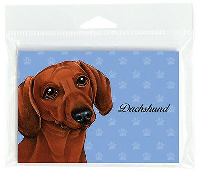 Dachshund Dog Note Cards Set of 8 with Envelopes Red