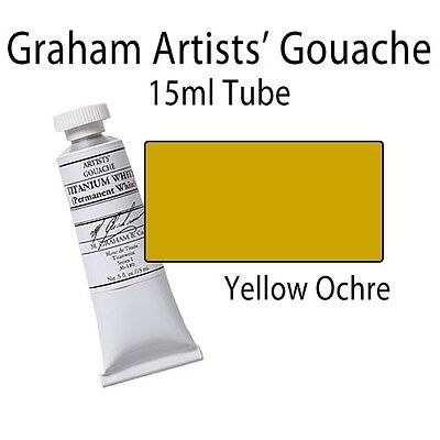 M. Graham Artists' Gouache Yellow Ochre 15ml Tube 36-200