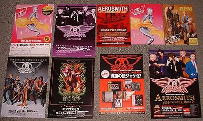AEROSMITH rare Japan PROMO booklet and flyer x 9 set