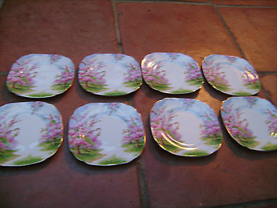 ROYAL ALBERT SET OF EIGHT SIDE PLATES 6 INCHES BLOSSOM TIME.
