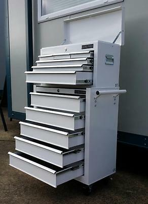 199 US PRO TOOLS WHITE AFFORDABLE TOOL CHEST ROLLCAB TOOL BOX ROLLER CABINET