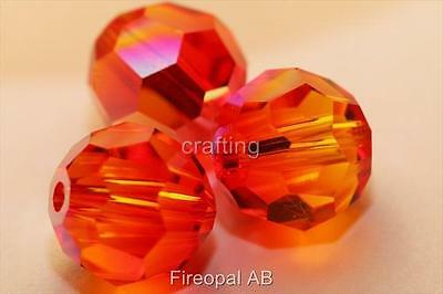 6 Authentic Swarovski crystal round bead 4, 6, or 8mm U Pick Special AB Color