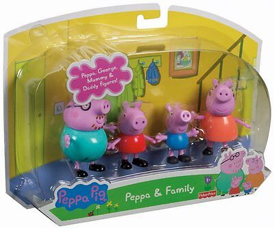 Fisher-Price Peppa and Family, New!