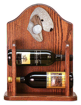Bedlington Terrier Dog Wood Wine Rack Bottle Holder Figure Liver - 2 Bottles ...