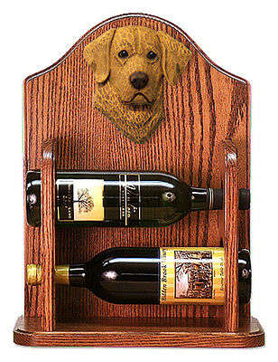 Chesapeake Bay Retriever Dog Wood Wine Rack Bottle Holder Figure - 2 Bottles ...