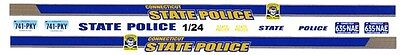 CONNECTICUT  State Police 1/25th - 1/24th Scale Waterslide Decals