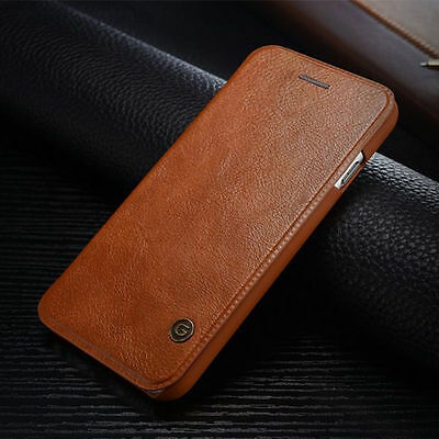 Luxury Original Leather Flip Cover Card Wallet Case For Apple iPhone 6 6S 7 Plus
