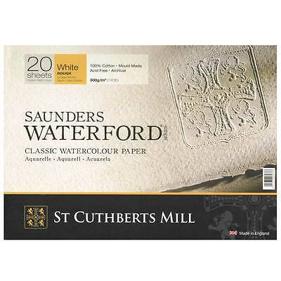 Saunders Waterford Watercolour Paper Block : 9 x 12in Rough - 20 sheets