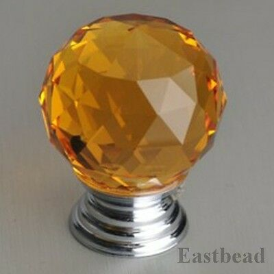 1pcs Diamond Crystal Shape Glass Cupboard Wardrobe Drawer Pull Knobs Handle 3381