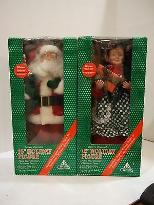 Vintage Holiday Creations Santa Claus & Mrs. Claus Figures Diaplays Only