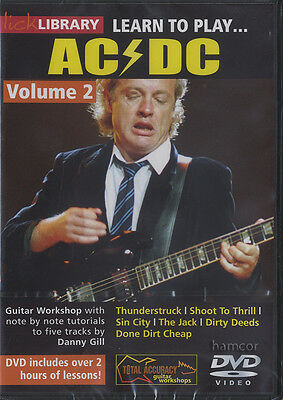 Learn to Play AC/DC Volume 2 Lick Library Guitar Tuition DVD Angus Young