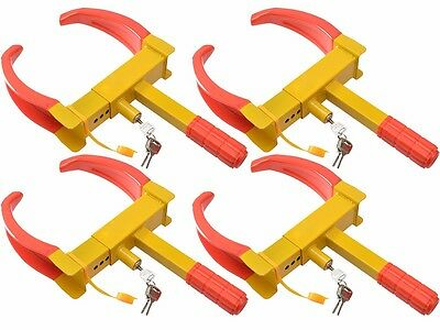 4pcs of Wheel Lock Clamp Boot Tire Claw Auto Car Truck RV Boat Anti-Theft Towing