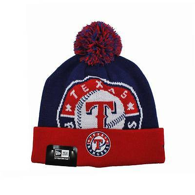 8633f6eeb8c NEW ERA Texas Rangers MLB Blue Red Beanie Hat Unisex Knit Pom Woven Biggie  2 Cap