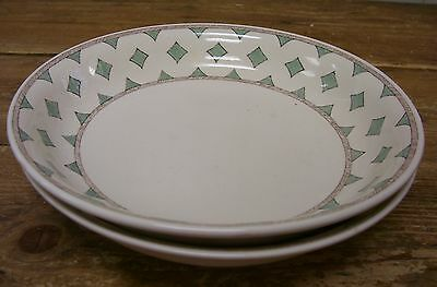 2 Villeroy Boch London Large Coupe Soup Cereal Pasta Bowl Green Switch 8